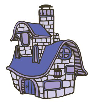 Brick house · purple