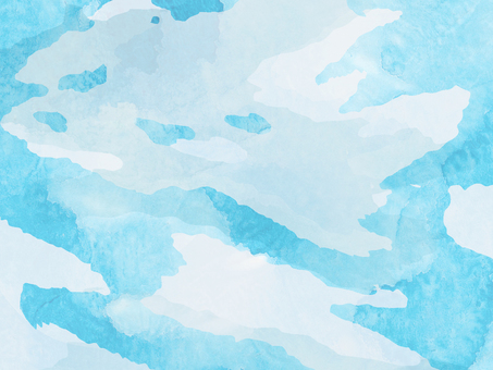 Sky background ① Clear watercolor