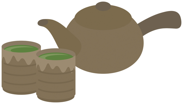 Teapot and a tea room
