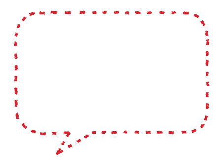 Speech _ crayon dotted line _ red