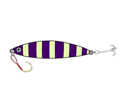 Metal jig (purple zebra)