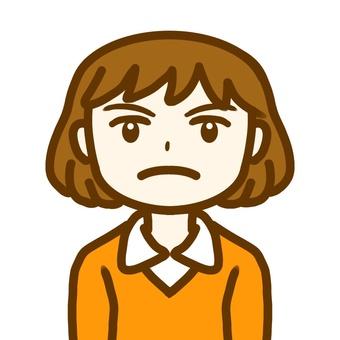 An angry woman.