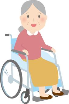 Wheelchair grandmother
