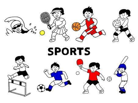 スポーツ選手・運動部セット(シンプル)