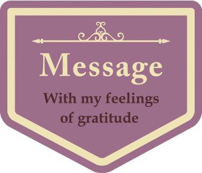 Message plate triangle purple