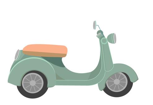 복고풍 오토바이
