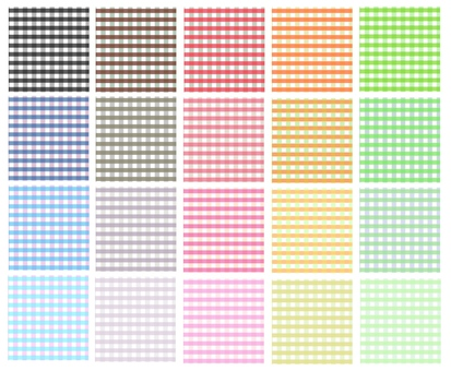 Check pattern pattern collection 20 color set