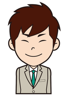 Newly recruited male employee (Nikkori)