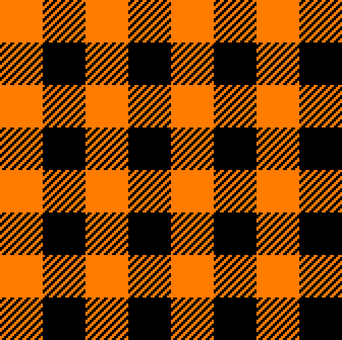 Halloween color _ Gingham check
