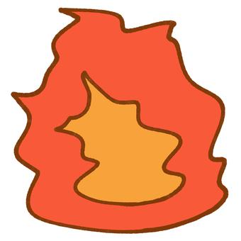 燃燒的火焰痕跡