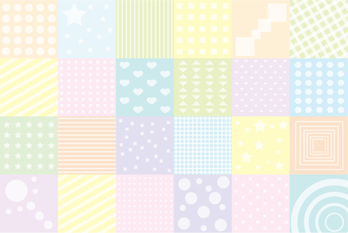 Wallpaper - Patchwork S - Pastel