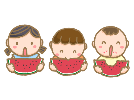 Children who eat watermelon