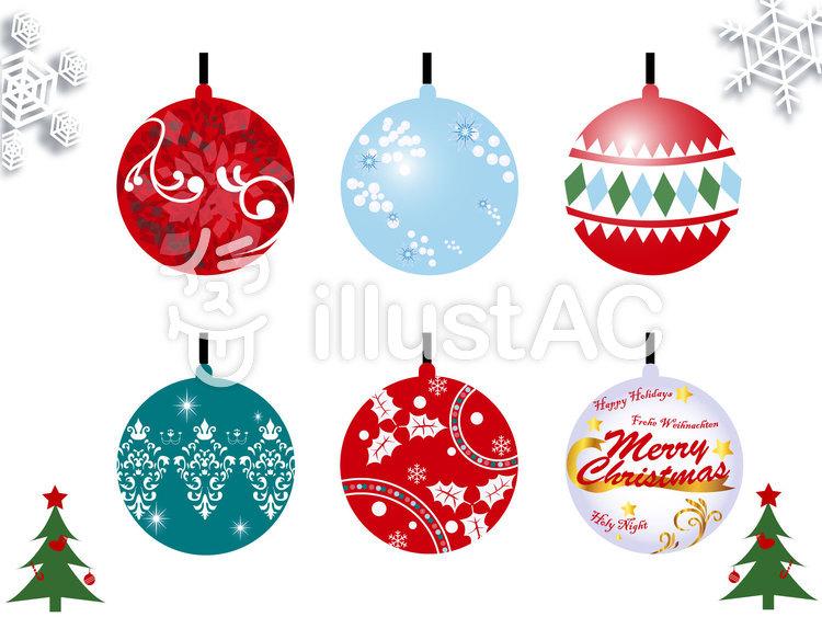 クリスマスツリー飾り クーゲル イラスト No 無料イラストなら イラストac