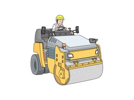 Roller car (road roller)