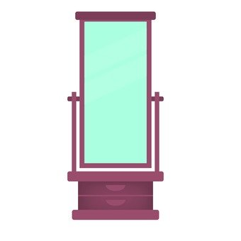 A mirror stand