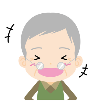 Old man (laughing) Bust up