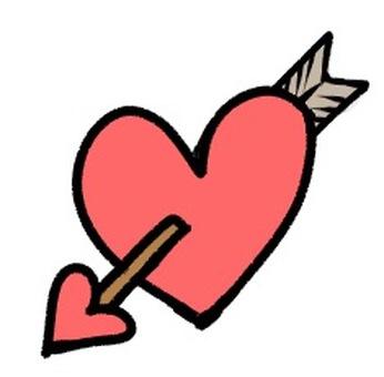 Heart with a bow and arrow