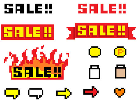 Dot drawing sale banner set