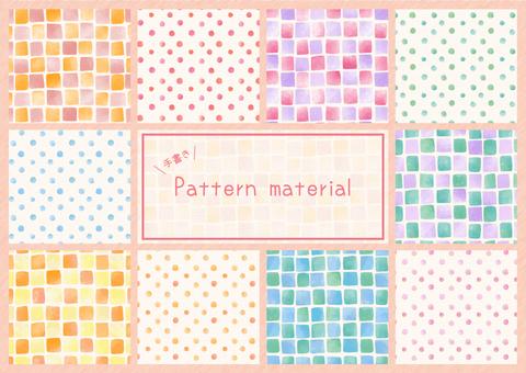Handwritten pattern material
