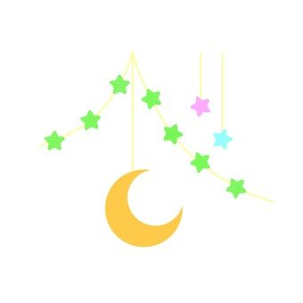 Moon and star decoration 1