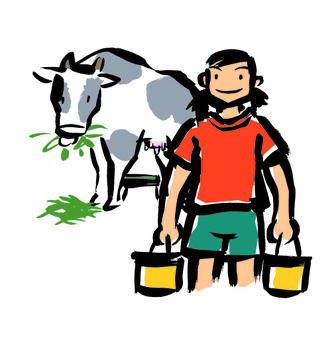 A dairy farmer