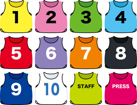 Bibs number basketball sports uniform