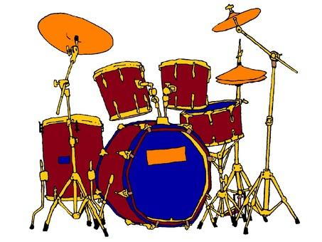 Drum set / png background transparent