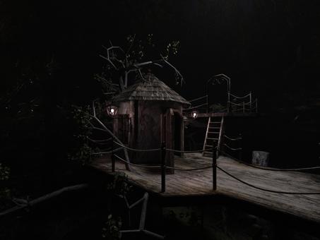ツリーハウスの夜