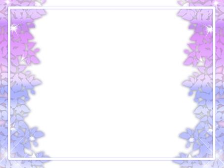 Leaf frame glitter frame frame (purple blue)