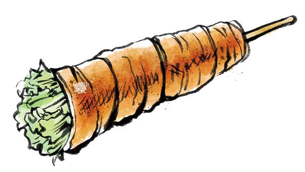 고기 감기 야채 꼬치 (상추)