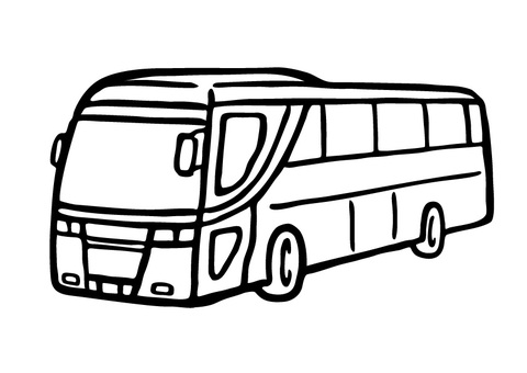 Hand drawn _ sightseeing bus