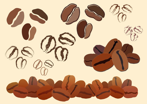 Free illustration Free material Coffee bean icon