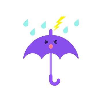 雨傘和雷暴在面對困境