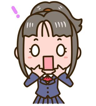 Schoolgirl 01 Bust Surprised