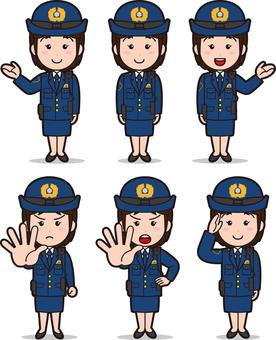 Officer 4 (women / winter clothes)