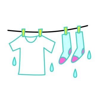 Washing shirt and socks