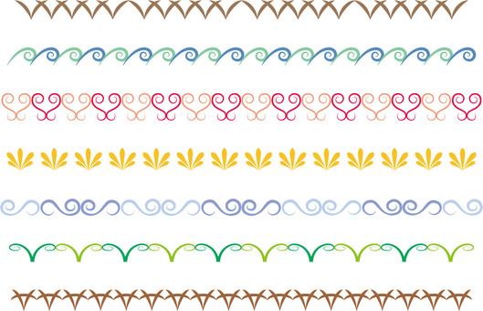 Simple decorative border 5 colors
