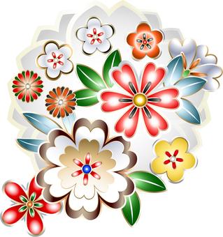 ai Japanese style · cherry tree · chrysanthemum set