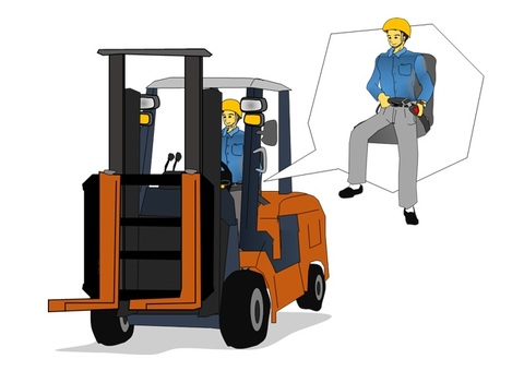 Wear of forklifts and seat belts