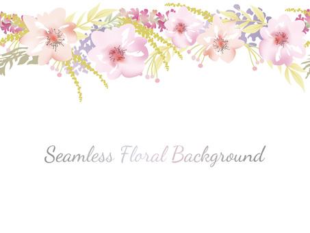 수채화 풍 원활한 꽃 배경