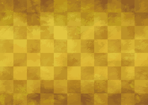 Golden paper-like checkered pattern