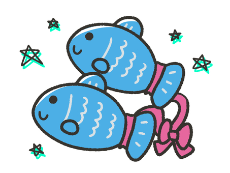 Cute Pisces and Stars
