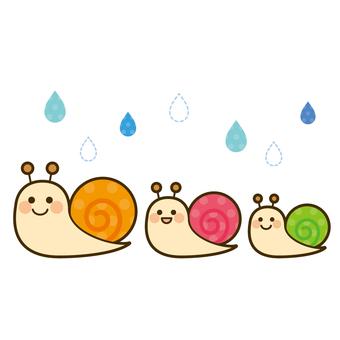 梅雨 かたつむり