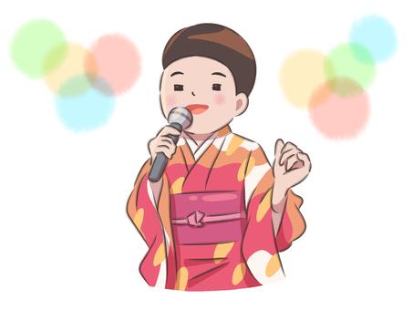 Woman enka singer simple cute