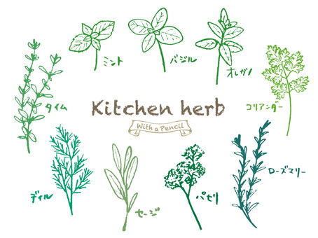 Kitchen without herb paint