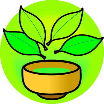 Tea and tea leaves · 4 sheets