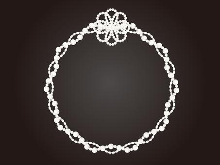 Elegant pearl frame