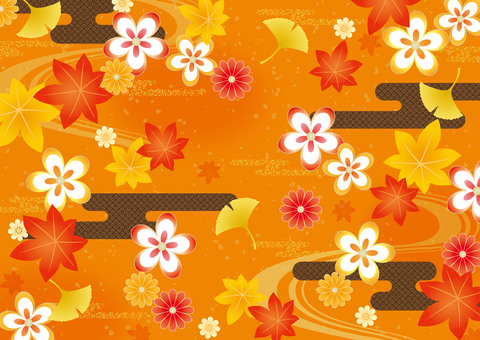 Autumn Japanese Pattern Background