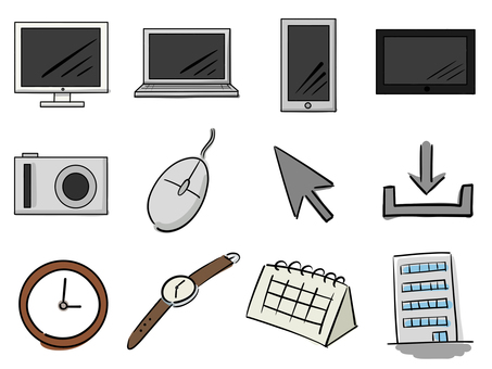 Doodle style illustration set (business type)
