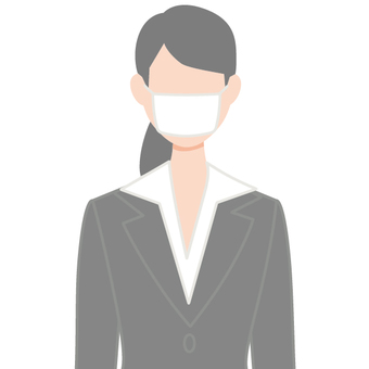 Mask Person icon Female upper body